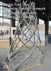 Crease, Fold, Pour: Advancing Flexible Formwork with Digital Fabrication and Origami Folding by Maciej Kaczynski