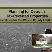 Planning for Detroit's Tax-Reverted Properties: Possibilities for the Wayne County Land Bank