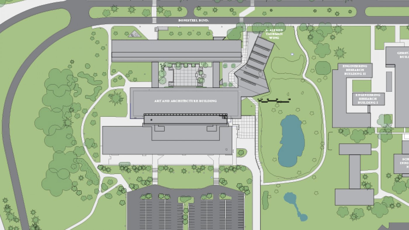 A. Alfred Taubman Wing - North campus color plan